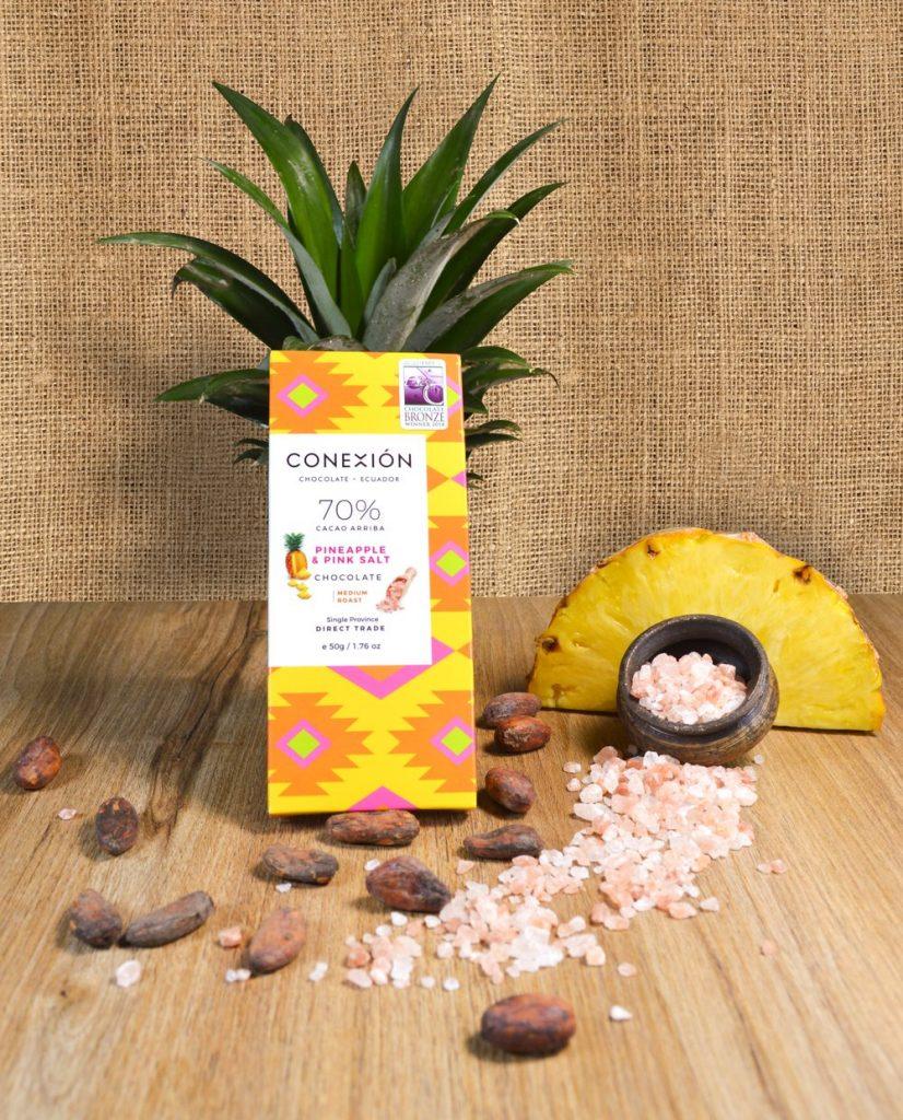 pink salt and pineapple
